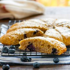 Steel Cut Oat & Greek Yogurt Blueberry Scones