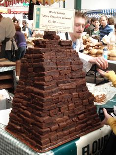 Tower of brownies, Borough Market, London