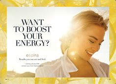 Espira by Avon - Coming January 2018 THE NEW HEALTH AND WELLNESS LINE DESIGNED BY NATURE, INSPIRED BY YOU Sign up today at  to be the first to know when Espira products are available.