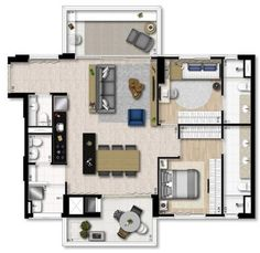 Planta 106 m²