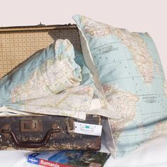 World map blanket map blanket blue blanket map fabric throw world map set of 2 blanket and cushion map blanket blue blanket gumiabroncs Choice Image