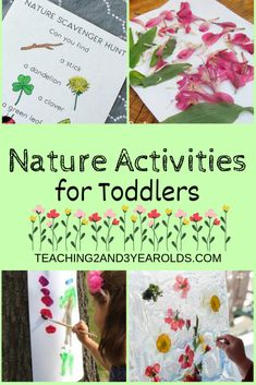 Teach your preschoolers about the outdoors with these 15 toddler-friendly nature activities. Perfect for the warmer spring and summer weather. #nature #outdoors #summer #outside #toddlers #AGE2 #teaching2and3yearolds