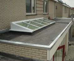 lichtstraat op plat dak