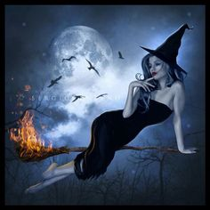 A young Witch contemplating.