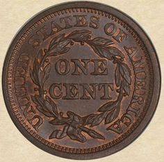 1853 Large Cent reverse
