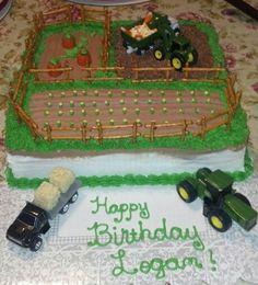 Farm John Deere birthday cake