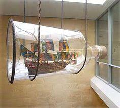 Vasa Ship, 2004 by Yinka Shonibare Boat In A Bottle, Ship In Bottle, Vasa Ship, Canvas Collage, Nautical Art, Message In A Bottle, Model Ships, Installation Art, 3 D