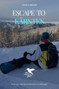 """Wir alle kennen das Gefühl, wenn es am Vorabend geschneit hat und wir vor lauter Freude am liebsten sofort auf den nächsten Berg fahren würden, um zu """"powdern"""".  Diese Verhältnisse findet man auf der Gerlitzen in Kärnten mit Blick auf den Ossiacher See. Mehr auf unserer Homepage :) #kärnten #gerlitzen #skifahren #snowboardfahren #urlaubinkärnten #urlaubinösterreich #winterwonderland #ausflügeinkärnten #ausflügeinösterreich #hierwohntdasglück #ossiachersee Snowboard, Need A Break, Greatest Adventure, Berg, Outdoor Gear, Finding Yourself, Ski, Road Trip Destinations, Glee"""