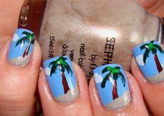 Palm Tree Nails ~ mNote - beach dreamin'