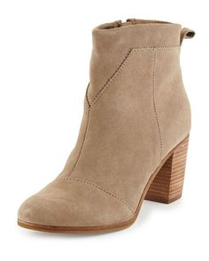 X2UZW TOMS Lunata Suede Ankle Boot, Taupe