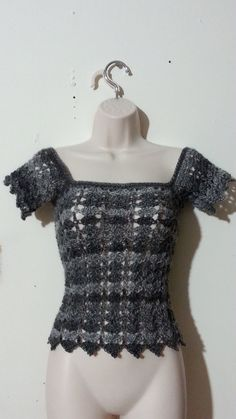 #Crochet Womens' Ladies Shirt top Blouse #TUTORIAL
