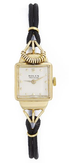 Unusual Vintage Ladies  Rolex  Watch 18k Yellow Gold ca. 1940's