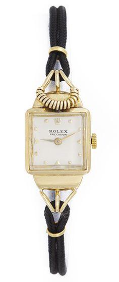 Unusual Vintage Ladies  Rolex  Watch 18k Yellow Gold ca. 1940's