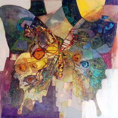 Sharon Blair: Emerge www.sharonblair.com.au - Art For Inspired Interiors - Mixed Media Artwork: Abstract Butterfly
