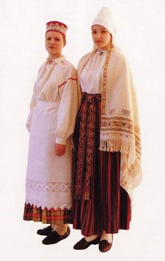 Latvia falls into four ethnographic regions: Kurzeme, Vidzeme (incl. Augzeme), Zemgale, Latgale, each with its unique outfits. Regional variations were most pronounced in the female attire, usually woven form linen or wool on spinning wheel or a weaving loom. Shown costumes from Latgale