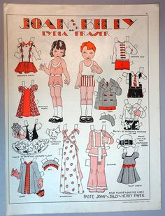 Lydia Fraser, Canadian Home Journal, March 1938US $24.00 Used in Dolls & Bears, Paper Dolls, Vintage