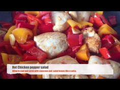 Hot pepper chicken salad - really tasty! - City Cottage