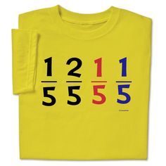 9881c535 One Fifth Two Fifth Funny Math Dr Seuss Pun T-shirt $19.99 Funny Math,