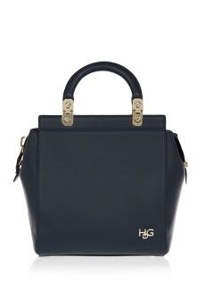 Givenchy Small House de Givenchy bag in navy leather | NET-A-PORTER
