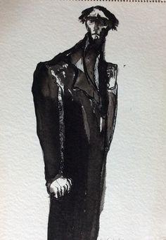 UNTITLED--- ink-- Barbara Turnbull Disbrow