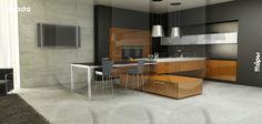 "furniture kitchen RODA, model Kioto (model line ""Modern space"")"