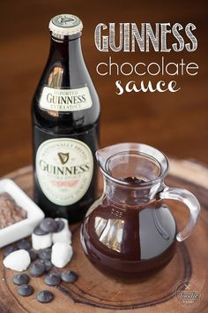 Guinness Chocolate Sauce - Tastes even better because its made with stout beer!
