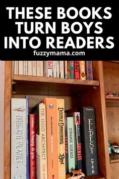 Struggling to get your boy to read? I've got a huge list of books that both of my boys(now 12 and 14) absolutely loved - and still read! These books engage the reader and help get them to love books!