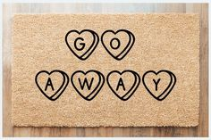 Go Away Doormat Valentines day doormat anti-valentines | Etsy Anti Valentines Day, Valentines Day Shirts, Valentine Day Gifts, Home Alone Christmas, Christmas Vacation Movie, Funny Drinking Shirts, Coir Doormat, Outdoor Paint, Waterproof Stickers