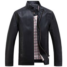 New Spring Autumn High-grade Quality Leather Jacket Men Casual Stand Collar Jaqueta Couro Color Black/Coffee Big Size 4XL|8758730b-1565-488a-bdde-364108e8f6a6|Leather & Suede
