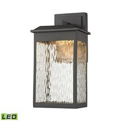 ELK Lighting 45200/LED Newcastle Collection Textured Matte Black Finish