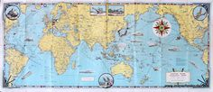 Invasion and Total War Victory Maps World War II - Antique Maps and Charts – Original, Vintage, Rare Historical Antique Maps, Charts, Prints, Reproductions of Maps and Charts of Antiquity