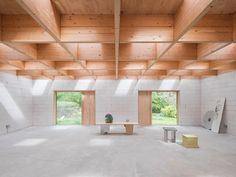 förstberg ling designs 'a house for two artists' with a grid of hidden skylights Malm, Villa, Timber Beams, Architectural Section, Ideal Tools, Cottage Interiors, Black Exterior, Contemporary Architecture, Timber Architecture