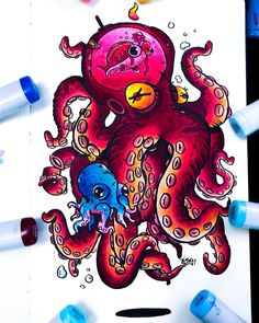 and baby ilustration (notitle) Dope Cartoon Art, Cartoon Kunst, Cartoon Drawings, Graffiti Doodles, Graffiti Drawing, Doodle Art Drawing, Cool Art Drawings, Vexx Art, Types Of Art Styles