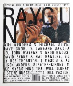 Ray Gun Magazine 48 - Wim Wenders Cover - August 1997 | eBay Typography Layout, Graphic Design Typography, Branding Design, Print Magazine, Magazine Design, Editorial Layout, Editorial Design, David Carson, Buch Design