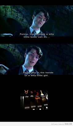 :-) Thank you, Tom Riddle!