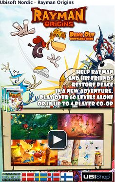 Design of a Ubisoft Facebook fan-page for the game Rayman