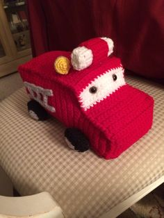 Firetruck...pattern free on Huckleberry Love and they found it on Ravelry.com from Melissa Harsh