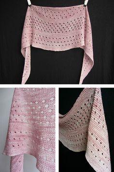 Ravelry: Melodia shawl in Madelinetosh Tosh Merino Light - knitting pattern by Janina Kallio. by rosalyn Crochet Shawls And Wraps, Knitted Shawls, Crochet Scarves, Knitting Scarves, Shawl Patterns, Knitting Patterns, Crochet Patterns, Knit Or Crochet, Lace Knitting