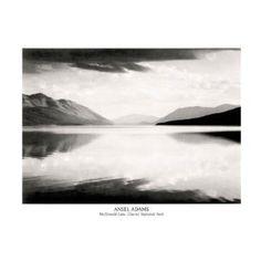 (16x20) Ansel Adams McDonald Lake Glacier National Park Print Poster  http://www.amazon.com/dp/B000G62UBK/?tag=goandtalk-20  B000G62UBK