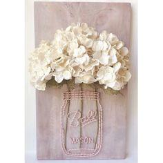 Arte de cadena personalizada tarro de masón con flores del faux, arte de cadena del tarro de masón, tarro de masón, tarro de bola, arte de la cadena, arreglo floral, flores, original