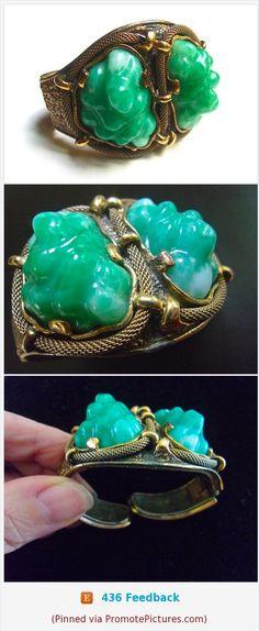 TORTOLANI Green Lava Peking Glass Mesh Bracelet, Hinged, Vintage #bracelet #tortolani #green #glass #lava #pekingglass #mesh #vintage #hinged #modernist https://www.etsy.com/RenaissanceFair/listing/546238025/tortolani-green-lava-peking-glass-mesh?ref=listings_manager_grid  (Pinned using https://PromotePictures.com)