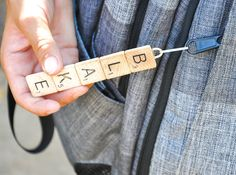 DIY Custom Scrabble Tile Zipper Pull