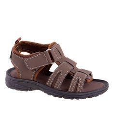 Brown Three-Strap Sandal