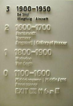 Signage at the Rijks Museum, Amsterdam