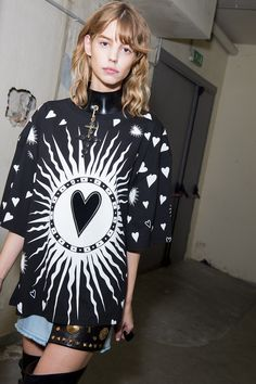 It was a little Madonna. Like A Prayer, Madonna. Mixed with Lady Gaga's Judas. If anyone can do it, Fausto Puglisi can...