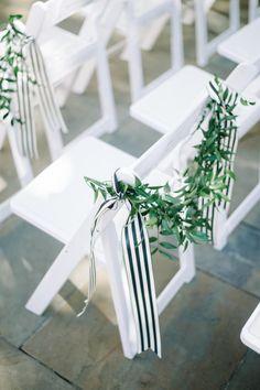 Stripes and olive branches: http://www.stylemepretty.com/2015/06/01/black-gold-william-aiken-house-wedding-in-charleston-sc/ | Photography: Aaron & Jillian - http://www.aaronandjillian.com/