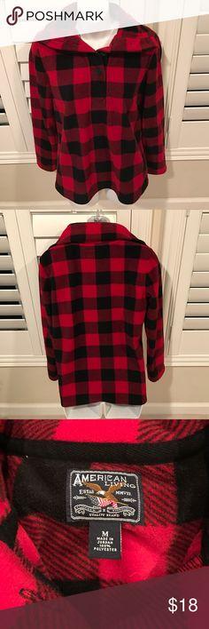 PRICE REDUCED plaid fleece pullover American living plaid fleece pullover- never worn... GREAT CONDITION size medium Tops Sweatshirts & Hoodies
