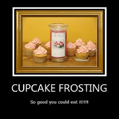 Cupcake frosting jewelry candles!