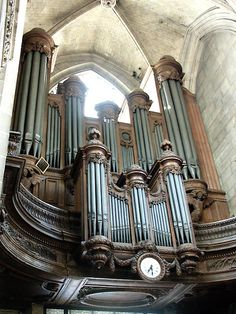 Organ at Saint Merri church, Paris