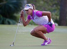 Girl Golf Outfit, Cute Golf Outfit, Girls Golf, Ladies Golf, Up The Women, Paula Creamer, Lexi Thompson, Sexy Golf, Golf Theme